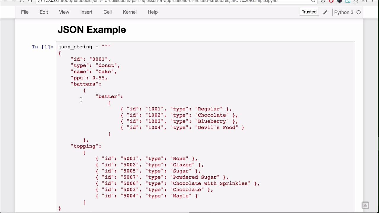 Application - JSON Files Lesson - Base Python Track