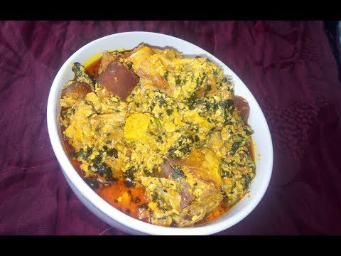Egusi Soup Recipe: How To Cook Egusi Soup (Caking Method) with bitter leaves