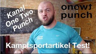 Kampfsportartikel Test von One Two Punch Boxhandschuhe, Boxsack, Pratzen, Funktionell Fitness.