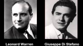 Leonard Warren & Giuseppe Di Stefano, La Bohème: O Mimi, Tu Più Non Torni