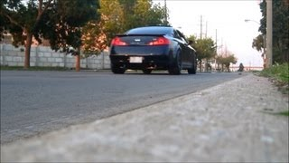 infiniti g35 coupe topspeed pro1 exhaust inside and outside