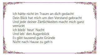 Helene Fischer - Tausend Gute Gründe Lyrics