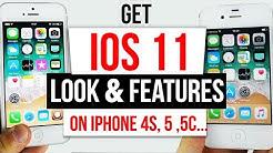 GET IOS 11 Look & Features on IOS 9 - 9.3.4 / 9.3.5 iPhone 4s, 5, 5c, iPad 2, 3, 4 & Mini 32Bit