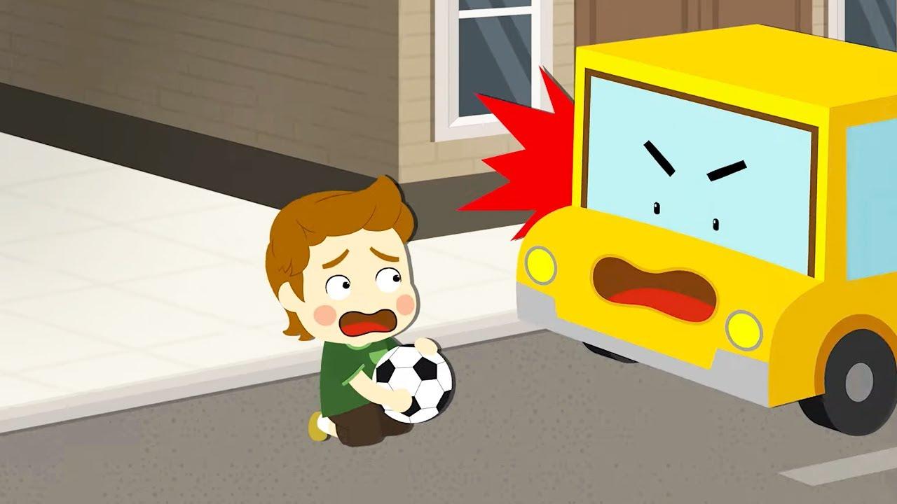 Мультфильм Робокар Поли - Игра с мячом 🚑 Уроки безопасности с Эмбер 🚒