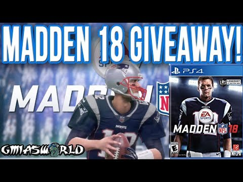 MADDEN 18 PS4 GIVEAWAY! WATCH THIS VIDEO AND FOLLOW THE INSTRUCTIONS FOR YOUR CHANCE TO WIN!