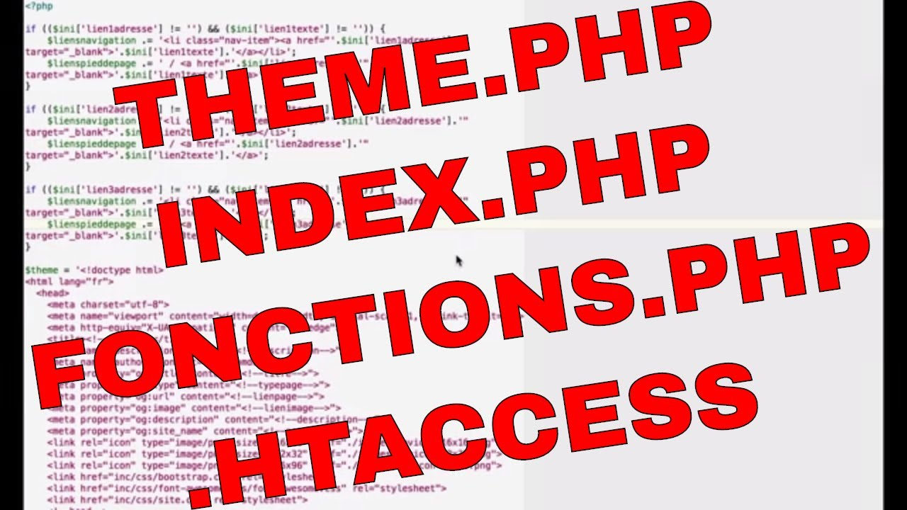 TUTO : theme.php, index.php, fonctions.php et .htaccess ...