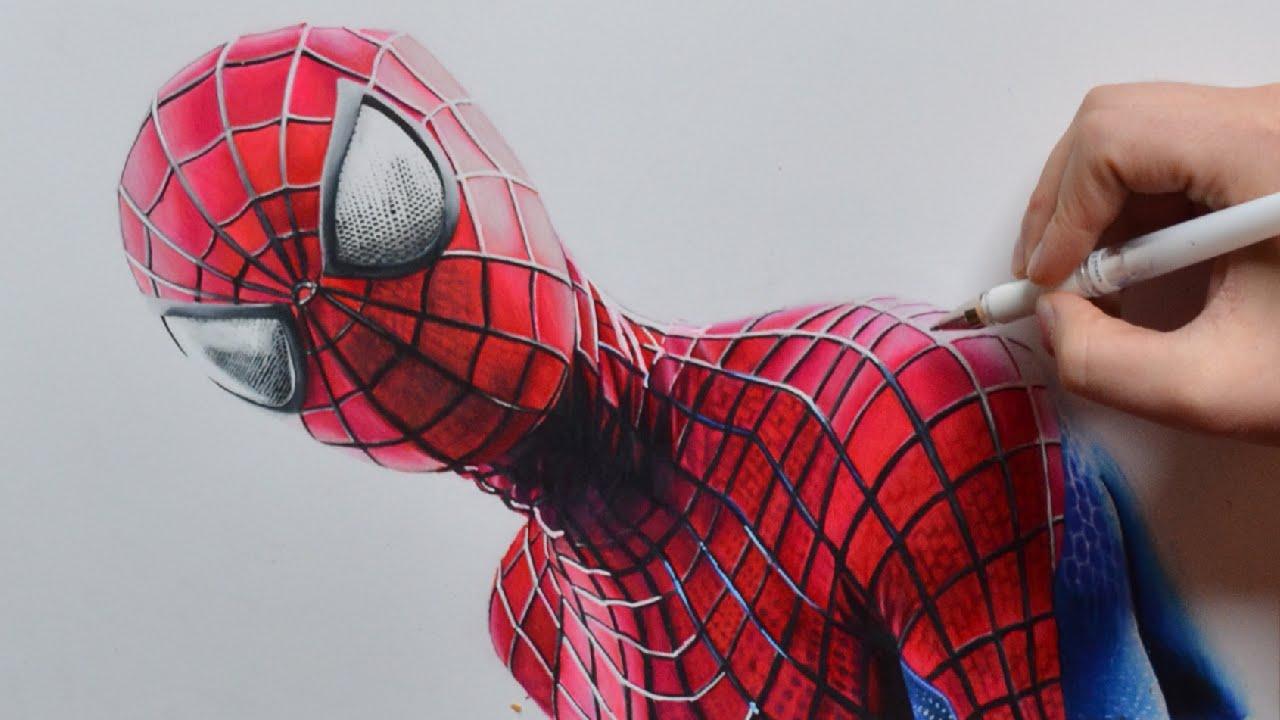 Drawing the amazing spider man nimauke