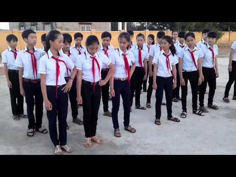 Nghi thức Đội - Đội hình hàng ngang. Liên đội THCS Lương Thế Vinh - Krông Ana - Đăk Lăk