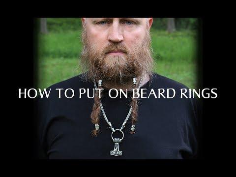 How to put on Beard Rings