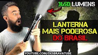 A LANTERNA MAIS FORTE DO BRASIL (3650 lumens)? - Review da Lanterna Jet Beam SSR50 da Rota Extrema
