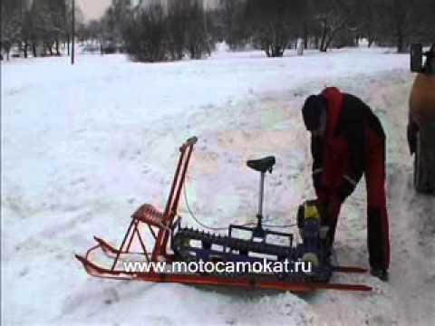 видео: Мотопривода к Финским саням 2010 ( мотофинки, финские сани с мотором)
