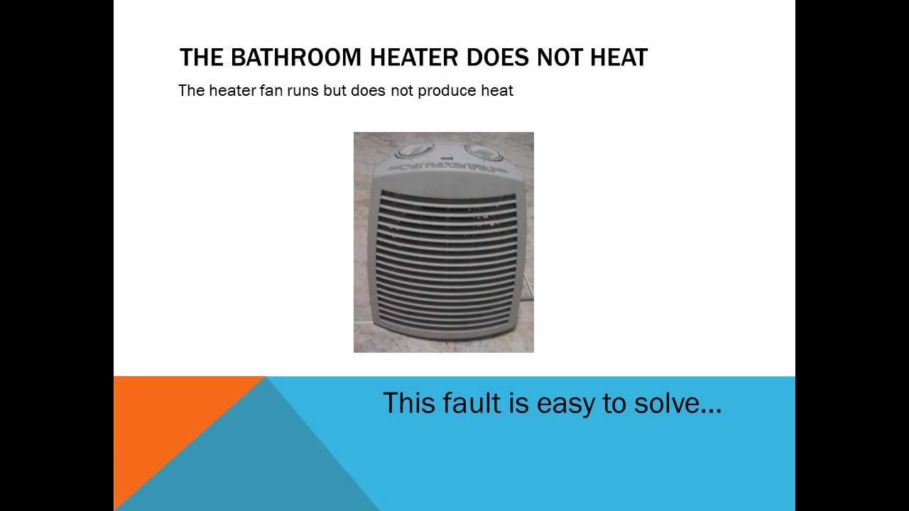 How to repair the bathroom heater not working and not turn ...