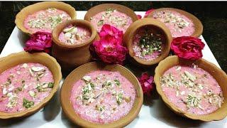 Phirni Gulkand Phirni Indian Dessert