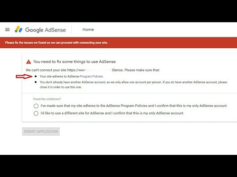 How to Fix, Your Site Adheres To Adsense  You Already have an AdSense account   Problem Solved..!