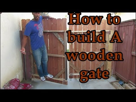 learn how to build a wood gate you will love for years to. Black Bedroom Furniture Sets. Home Design Ideas