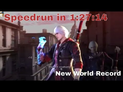 Devil May Cry 4 Special Edition Speedrun In 01:24:44 New World Record Devil Hunter With Nero/Dante