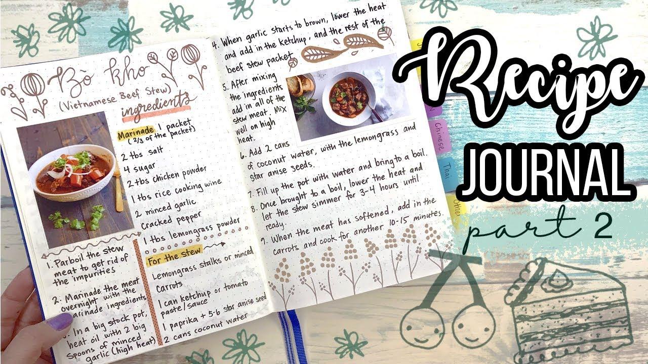 recipe journal how i