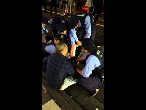This is how Japanese police deal with people who hit them. Watch till the end. Very funny