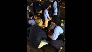 Blue girl uniform Japanese police bukkake