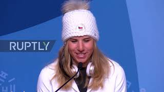 South Korea: 'Queen of the games' Ester Ledecka talks winning historic Olympic double gold