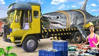 बड़ा मछली ट्रक हिंदी कहानी - Giant Fish Truck Story | Maa Maa TV Hindi Kahaniya Funny Comedy Stories