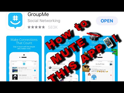 How to mute the GROUPME APP