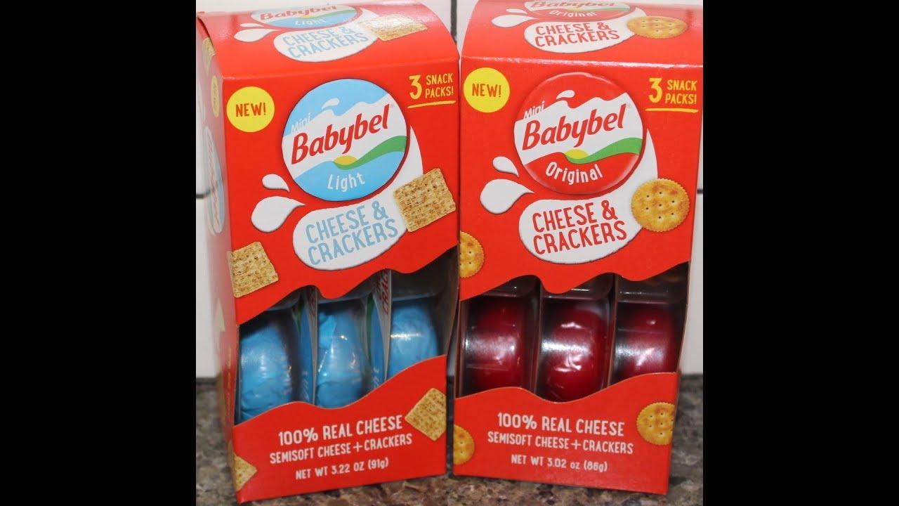 Babybel Cheese & Crackers: Light & Original Review