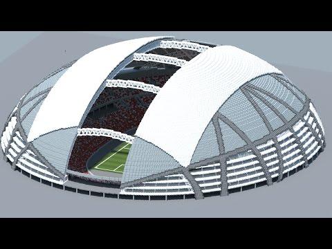 Minecraft - MEGABUILD - Singapore National Stadium + DOWNLOAD [Official]
