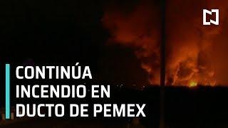 Incendio en ducto de PEMEX en Tetepango   Explosión en ducto de PEMEX en Tetepango - Las Noticias