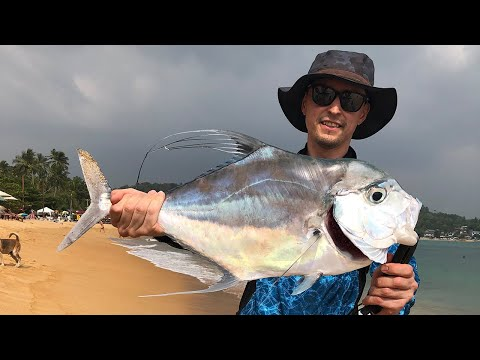 Diamond Trevally. Sri Lanka Shore Fishing. Travel With Rods