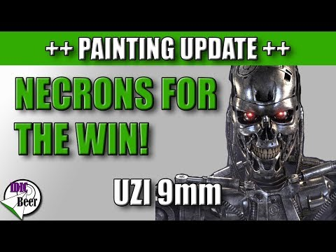 Necrons for the Win! Uzi 9mm (Painting Update #2)