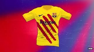 5f0cd329db3 LEAKED  FC Barcelona 19-20 Senyera Fourth Kit