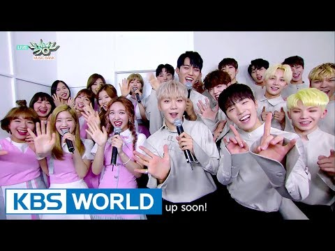 Best song nominees, SEVENTEEN and TWICE, in the green room! [Music Bank / 2017.06.02]