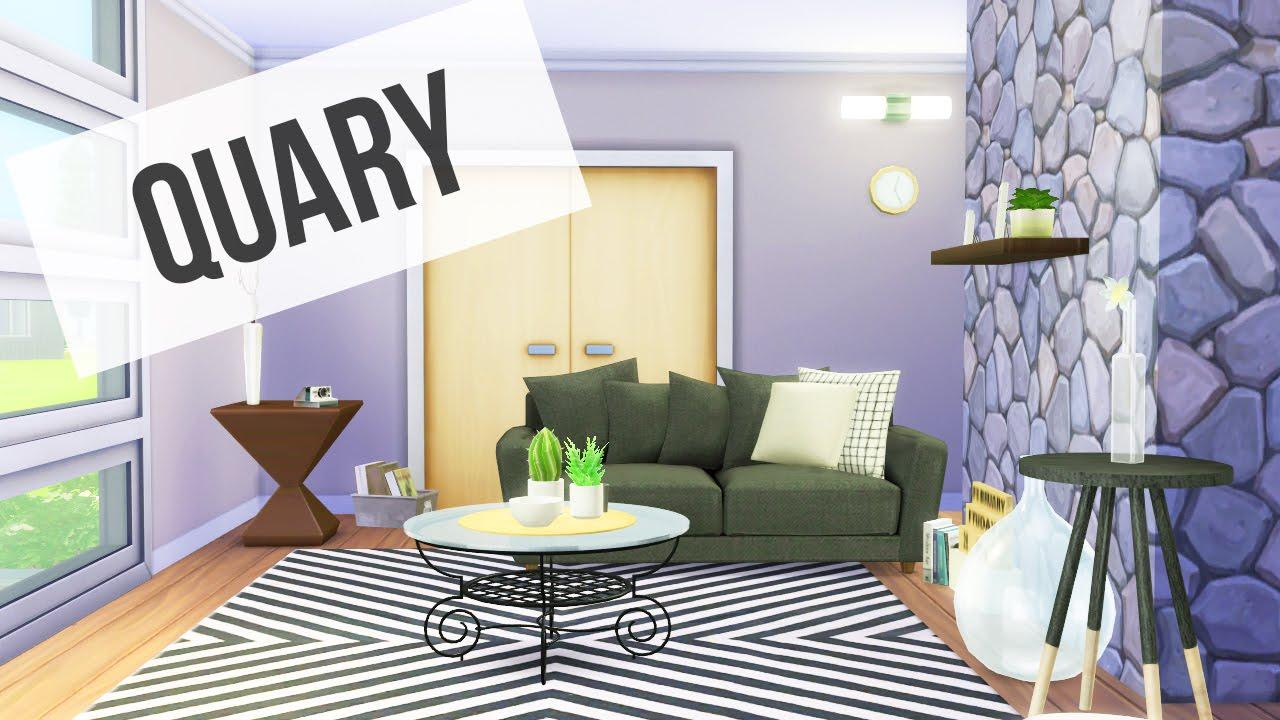 The sims 4 quary living room decor youtube for Room decor sims 4