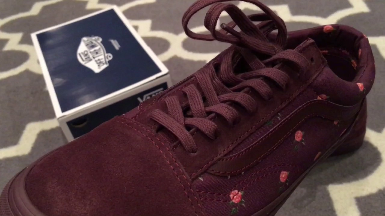 67e7a5c5693355 Shoe Review  Vans Vault x Undercover Old Skool LX - Bordeaux Burgundy Rose