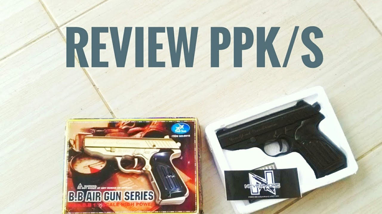 Unboxing dan review Walther PPK/S airsoft spring NEVERMORESHOP