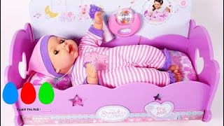 Baby Doll Bed Time Feeding Time Putting Baby to Sleep Doll Crib Playset