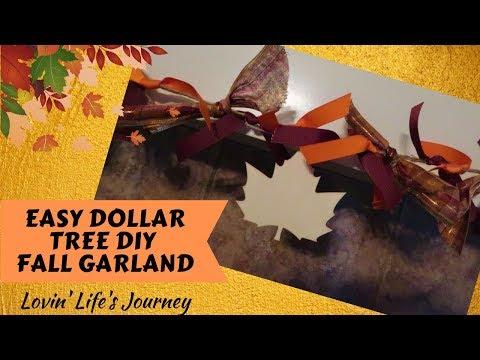 Easy Dollar Tree DIY Fall Garland on a Budget