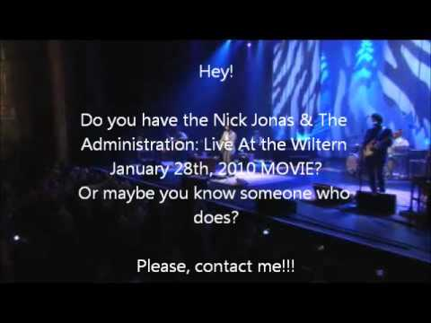 Nick Jonas & The Administration: Live At the Wiltern January 28th, 2010 MOVIE