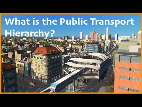COMPLETE BEGINNERS GUIDE TO PUBLIC  TRANSPORT  in Cities Skylines | Town Planner Tips