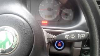 Štartovacie tlačítko na Škoda Felicia. Skoda Felicia Push start