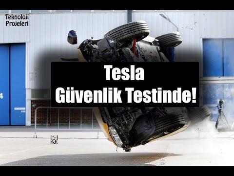 Tesla Aracı Güvenlik Testinde! Aracın Devrilmemesi Dikkat Çekti