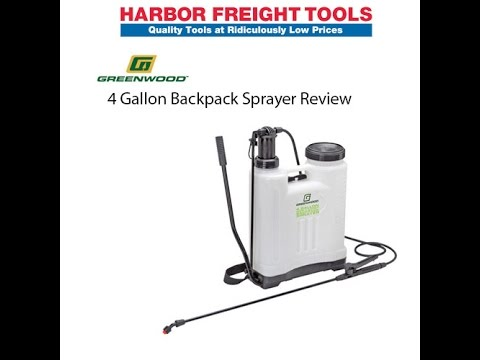 Harbor Freight Greenwood 4 Gallon Backpack Sprayer Review