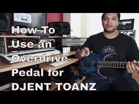 How to use an overdrive pedal for djent metal tone