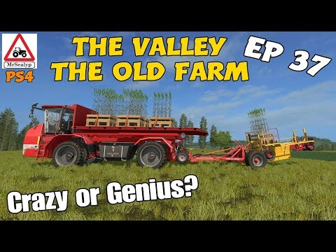 Let's Play Farming Simulator 17 PS4: The Valley The Old Farm, Ep 37 (Crazy or Genius?)