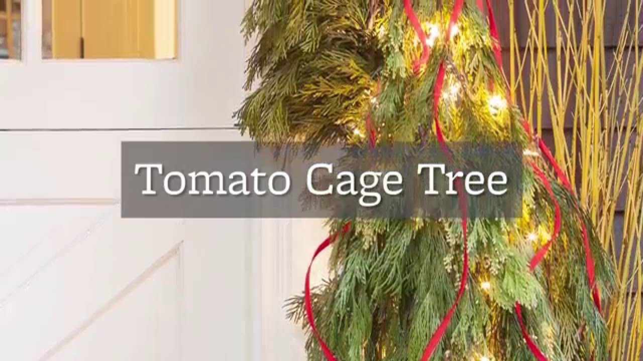 diy tomato cage christmas tree youtube - Tomato Cage Christmas Decorations