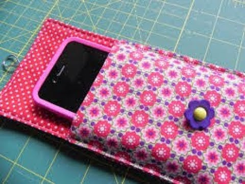 how to make phone pouch step by step mobile pouch making tutorial ...