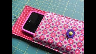 how to make phone pouch step by step  mobile pouch making tutorial cell phone pouch sewing pattern
