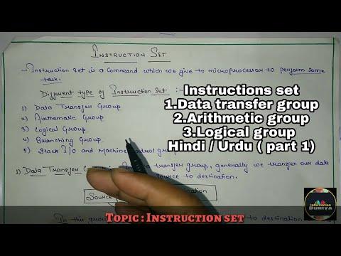 Instructions Set    Instructions Set In Hindi / Urdu    Microprocessor    Part 1   Informationduniya