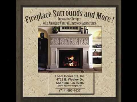 Fireplace Surrounds by Foam Concepts Inc. - YouTube